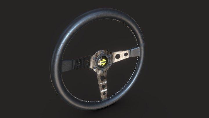 Momo Prototipo steering wheel 3D Model