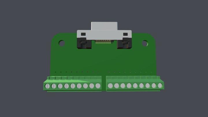UC301 Breakout Board 3D Model