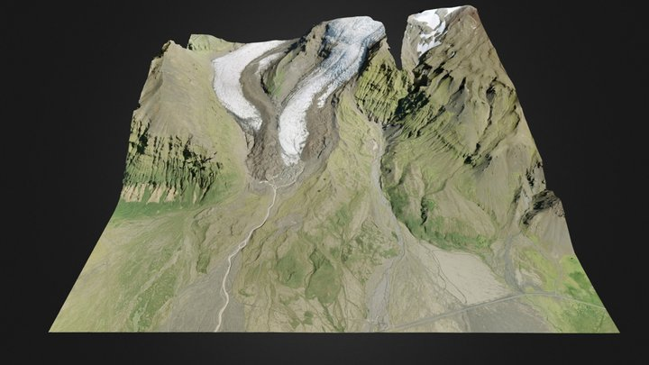 Virkisjokull 3D Model
