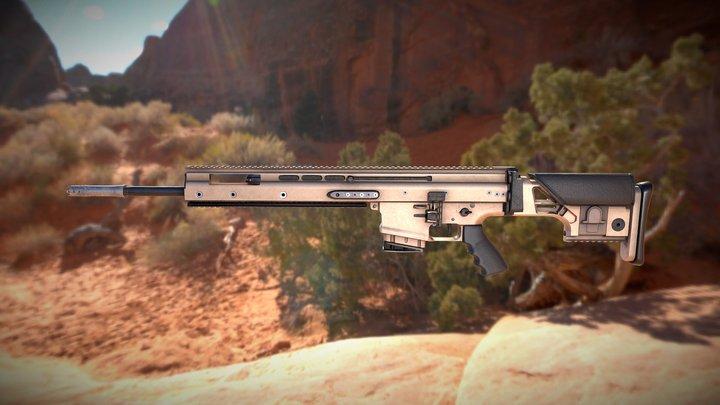 FN SCAR MK 20 SSR 3D Model