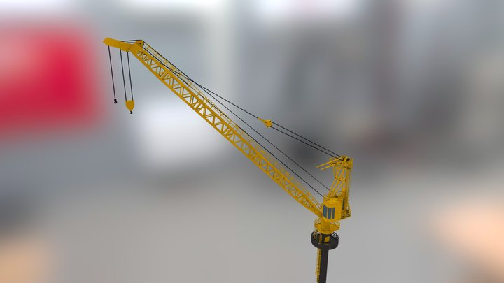 Le Tourneau PCM 220S Crane 3D Model