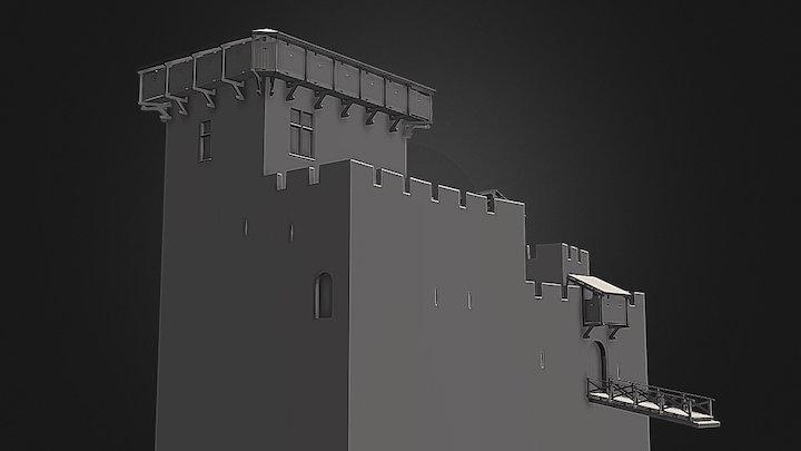 DONJON HAUTPOUL 3D Model