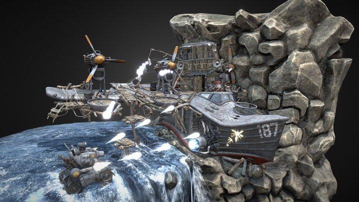 T-770 Tetsuyuki Battle!, from Metal Slug 1 3D Model