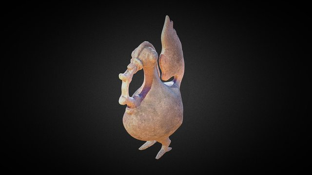 Hamsa Mythical Goose 3D Model