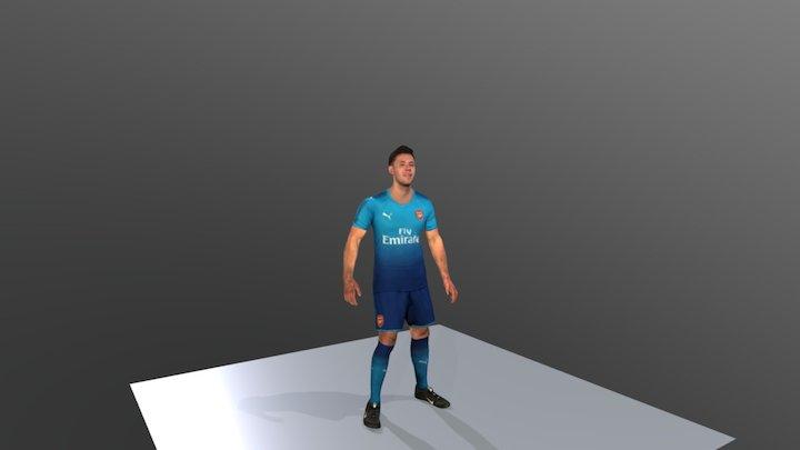 Arsenal Away Kit 2017-18 Animation 3D Model