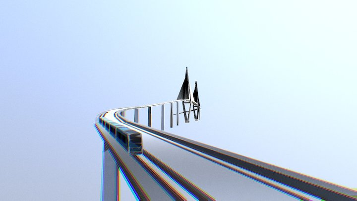 Fraser Valley Skytrain Bridge 3D Model