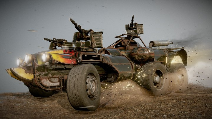 Crossout - Spirit (from 'Insomnia' pack) 3D Model