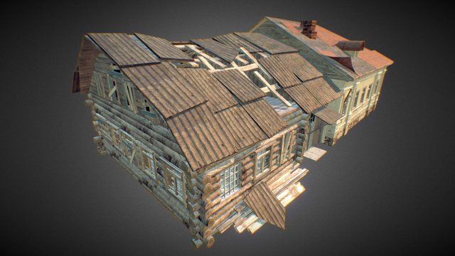 Russian destroyed building 3D Model