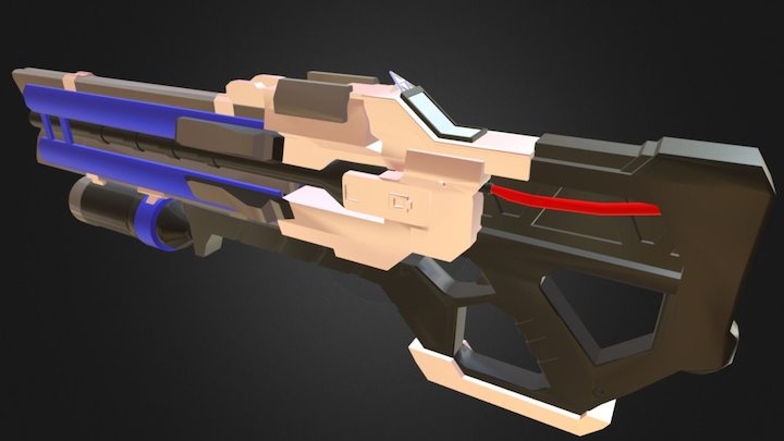 Overwatch Soldier 76's Gun 3D Model