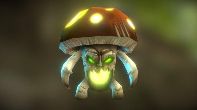 Mushroom Monster 3D Model