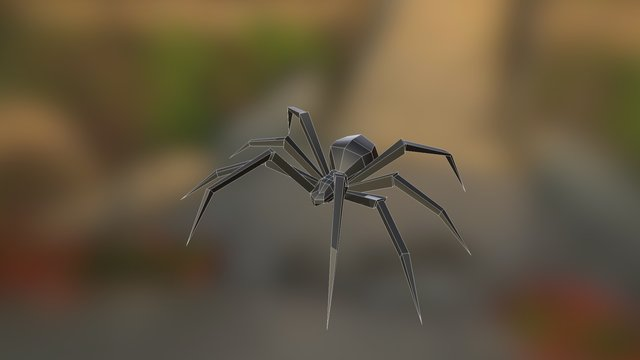 Low Poly Spider 3D Model