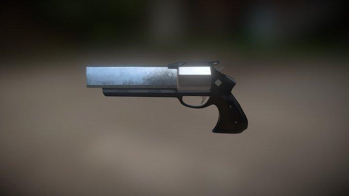 Futuristic revolver 3D Model
