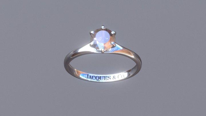 Classic Tiffany Six-Prong Diamond Ring 3D Model