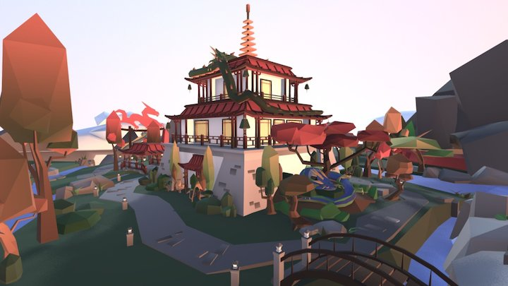 Midevil Fantasy Challenge - Plateau Sanctuary 3D Model