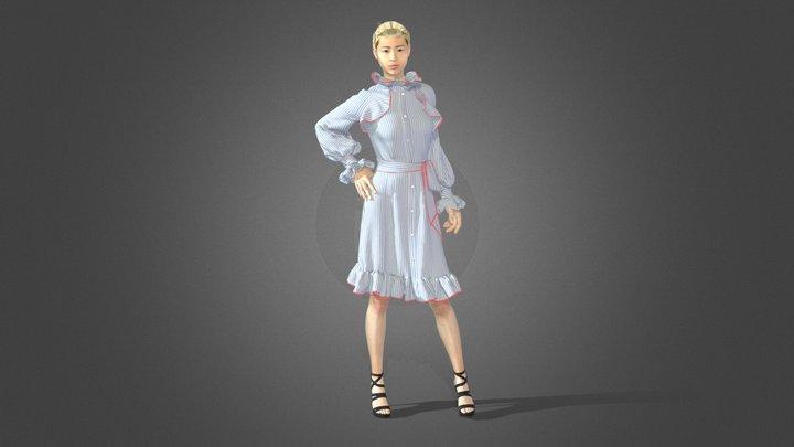 Raglan dress 3D Model