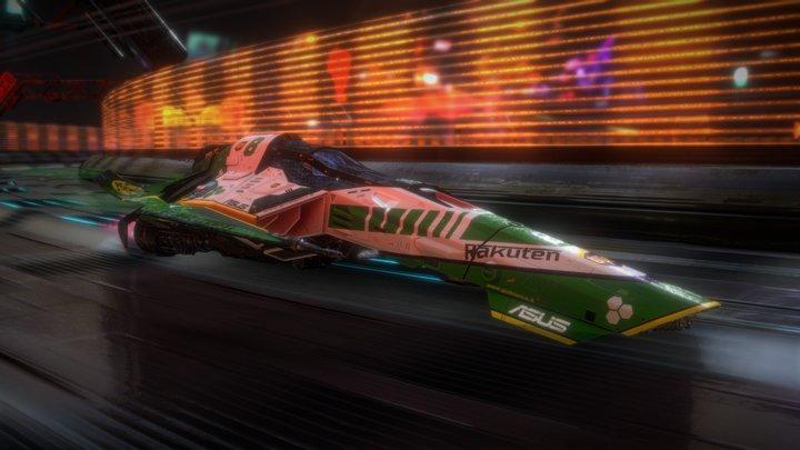speed ship ghost 3k 3D Model