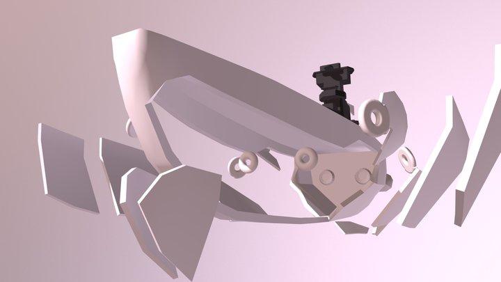 Space Warship Full Burst animation Concept 3D Model