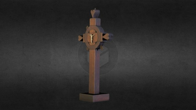 Wooden Cross 3D Model