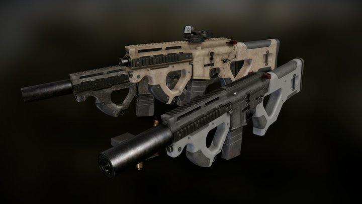 AR 15 Beowulf Hera Custom Rifle 3D Model