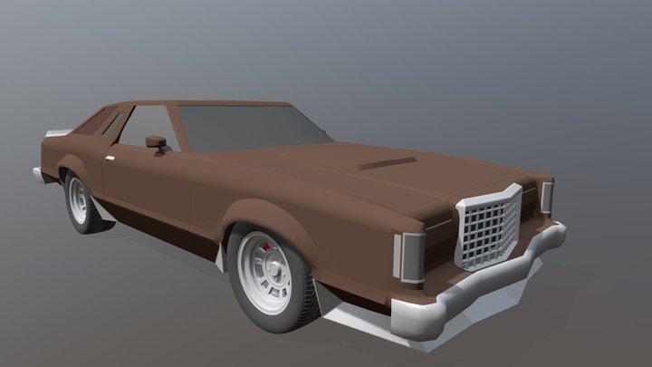 Tbird Turbo Coupe 3D Model