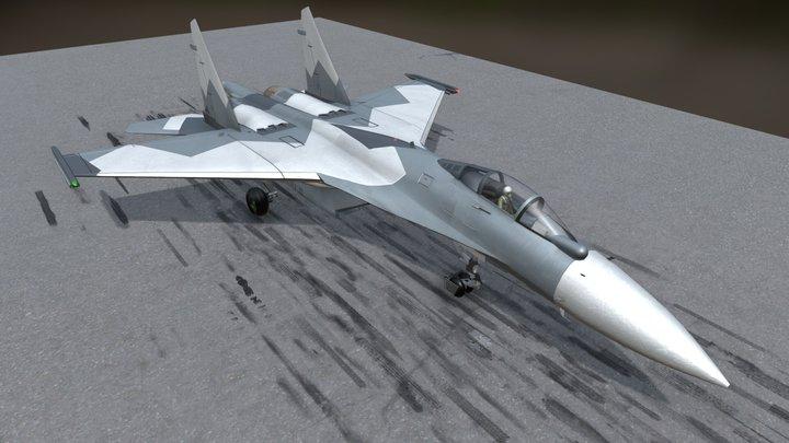 SU-35 M2K CH 3D Model