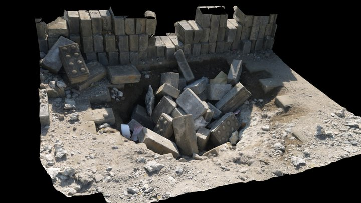A pile of bricks3 3D Model