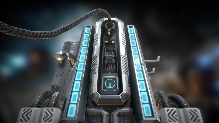 Sci-fi electrical charger   Free Download 3D Model