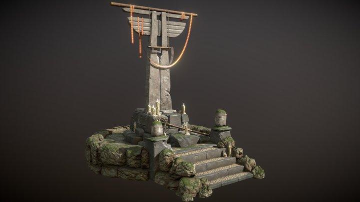 ArtstationContest FeudalJapan-FOREST SHRINE 3D Model