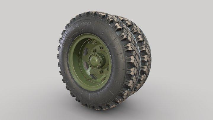 3d model-Car wheel ZIS-150 3D Model