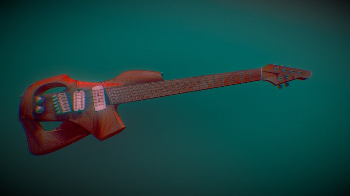 Marabunta 6 String Multiscale Guitar 3D Model
