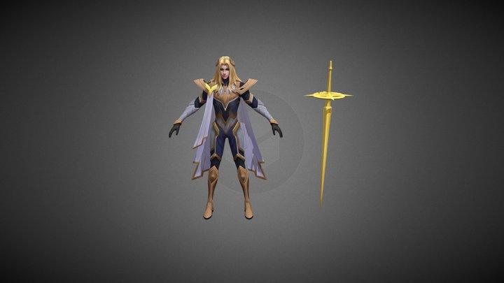 Hero Lancelot sword master MOBILE LEGENDS 3D Model