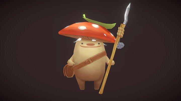 Mushroom Warrior 3D Model