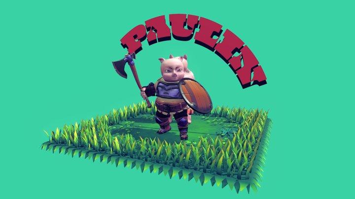 Paulin - The Pig Warrior 3D Model