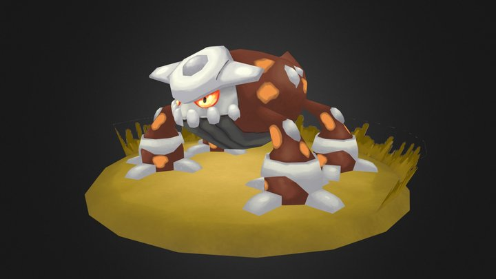 Pokemon FanArt - Heatran 3D Model