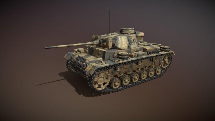 PzKpfw III - Panzer 3 - Ausf.L - 223 3D Model