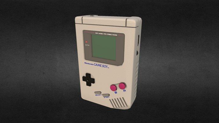 Original Gameboy - Low Poly 3D Model