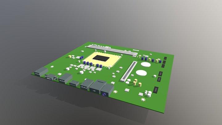 Old motherboard 3D Model