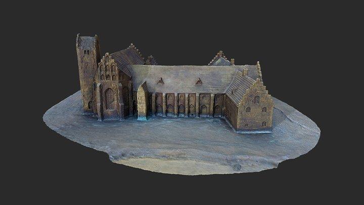 Gråbrödraklostret i Ystad, Skåne 3D Model