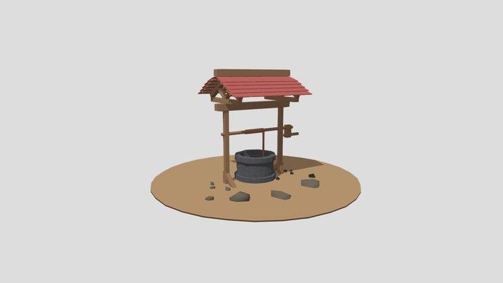 Brick Well 3D Model