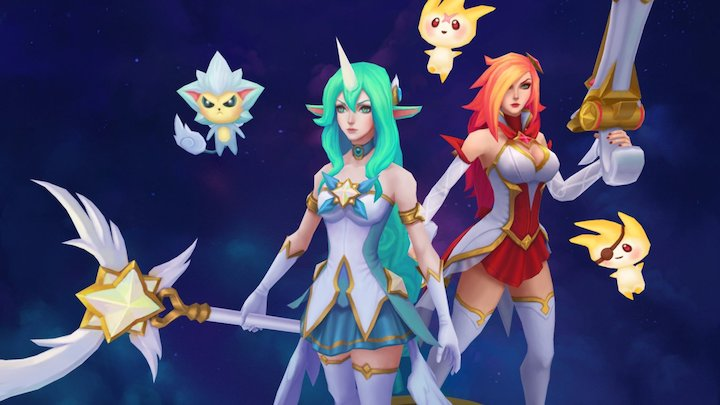 Star Guardian Miss Fortune and Soraka 3D Model