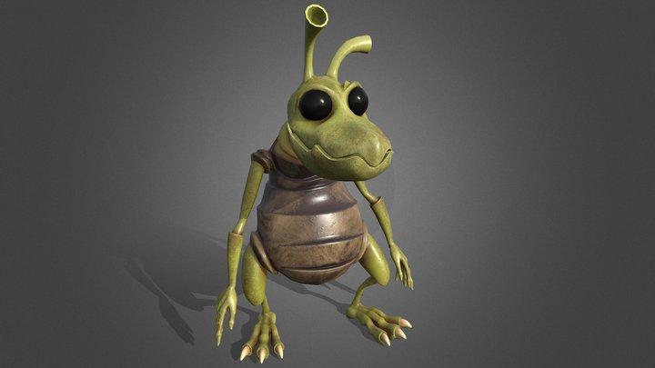 Mantis Bug Character 3D Model