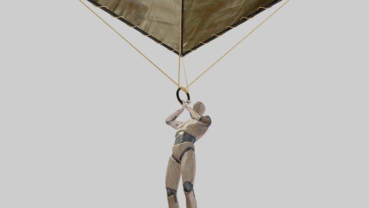 Leonardo da Vinci - Paracadute - AR/VR Ready 3D Model