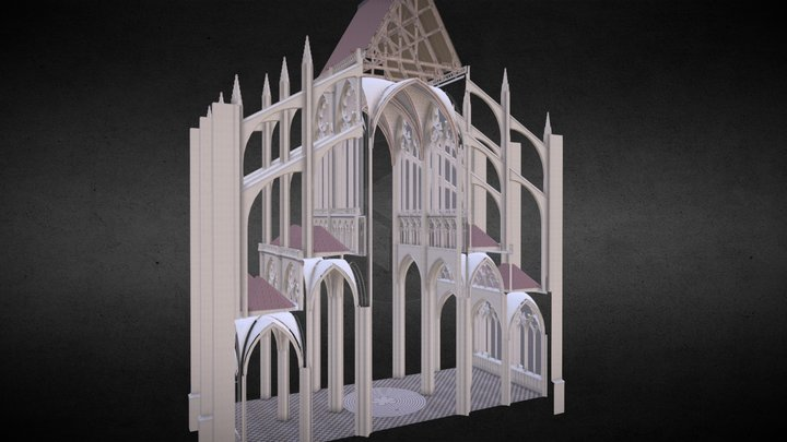 Medieval Cathedral 3D Model