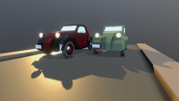 Fiat 500 Topolino 3D Model