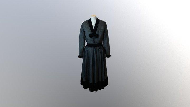 1952 Pierre Balmain dress 3D Model