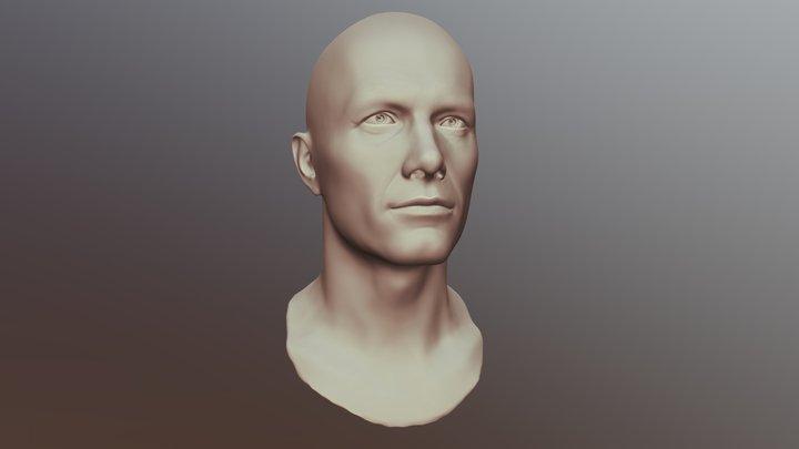Male Head Sculpt 01 3D Model