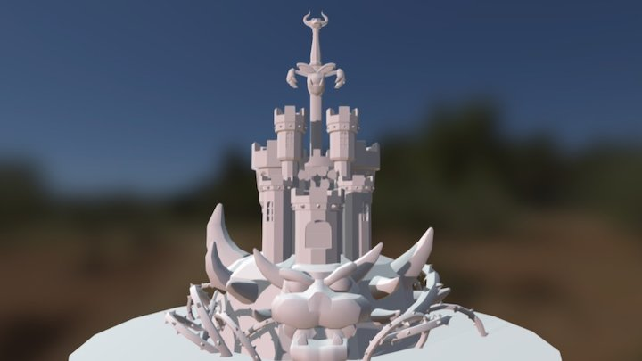 Bowsers Keep 3D Model