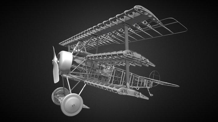 Fokker Dr1 1917 (Work in progress) 3D Model