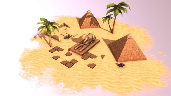 Egypt location 3D Model