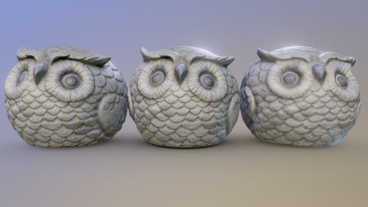 Owl Decor Photogrammetry 3D Model